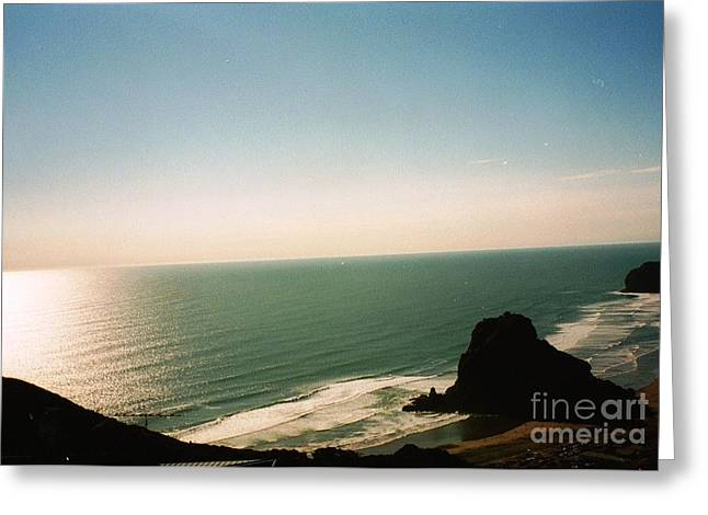 East Coastline In New Zealand Greeting Card