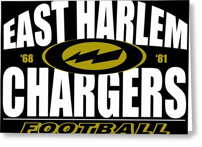 East Harlem Chargers Football Greeting Card
