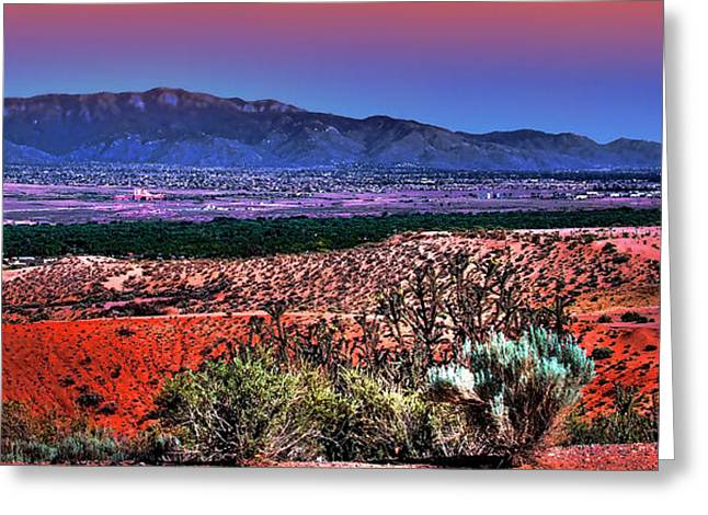 East Of Albuquerque Greeting Card by David Patterson