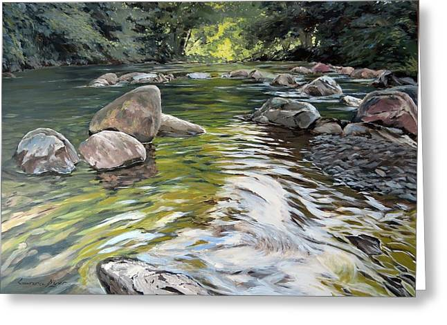 East Okement River Greeting Card