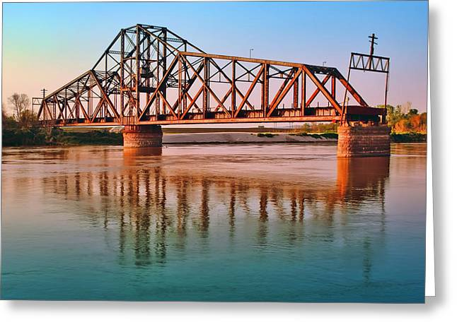 East Omaha Bridge Greeting Card by Nikolyn McDonald