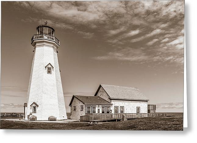 Greeting Card featuring the photograph East Point Lighthouse by Chris Bordeleau