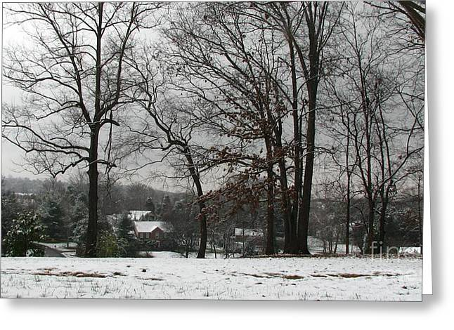 East Tennessee Winter Greeting Card by Todd A Blanchard