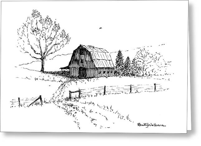 East Texas Hay Barn Greeting Card