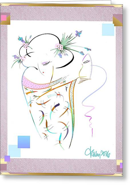 East Wind - Masquerade Greeting Card