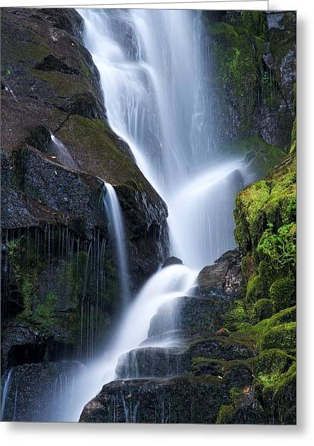 Eastatoe Falls Detail - Waterfalls In North Carolina Photo Greeting Card by Matt Plyler