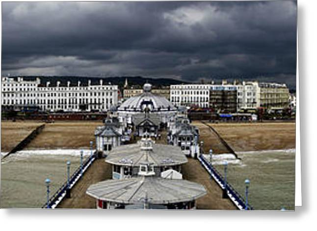 Eastbourne Panorama Greeting Card by Heiko Koehrer-Wagner