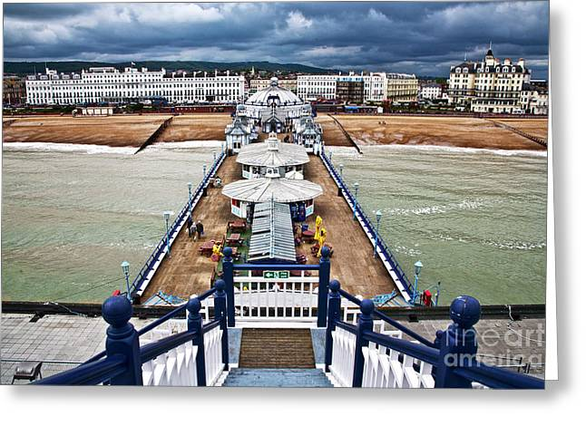 Eastbourne Pier Greeting Card by Heiko Koehrer-Wagner