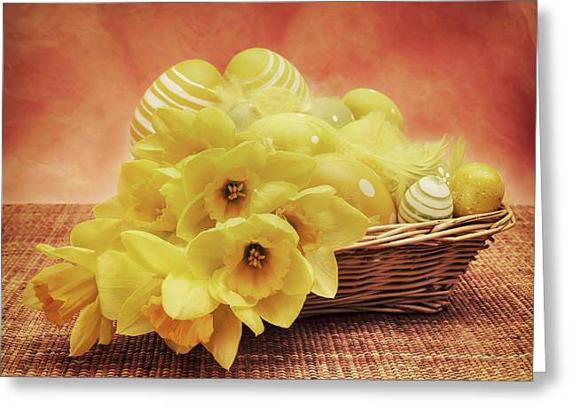 Easter Basket Greeting Card by Wim Lanclus