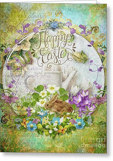 Greeting Card featuring the mixed media Easter Breakfast by Mo T
