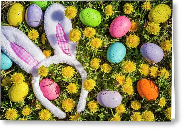 Greeting Card featuring the photograph Easter Bunny Ears by Teri Virbickis
