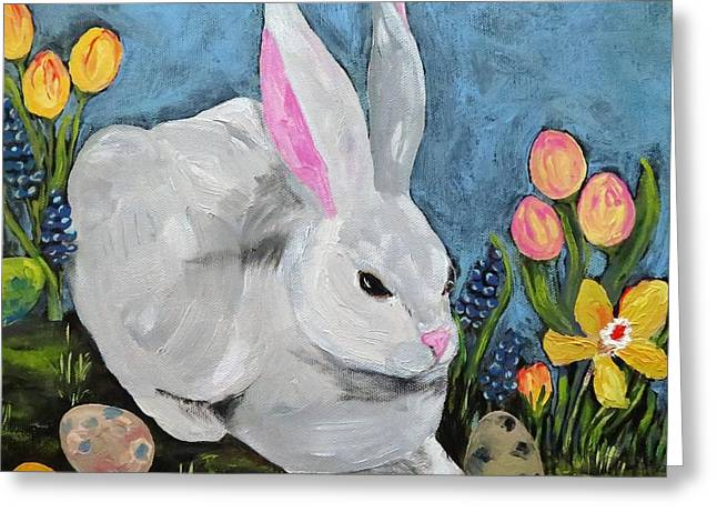 Easter Bunny  Greeting Card by Reina Resto