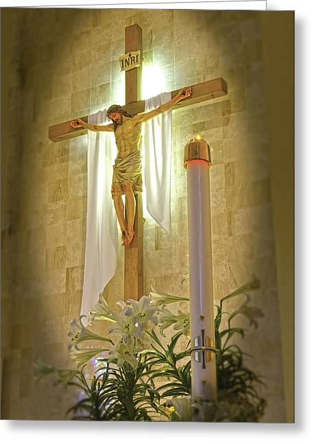 Easter Candle Greeting Card by Don Wolf