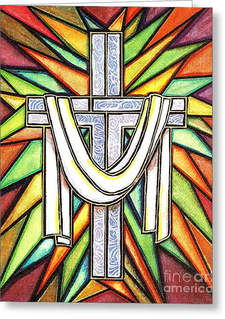 Easter Cross 5 Greeting Card by Jim Harris