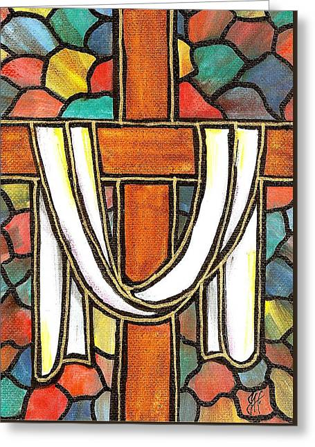 Easter Cross 6 Greeting Card by Jim Harris
