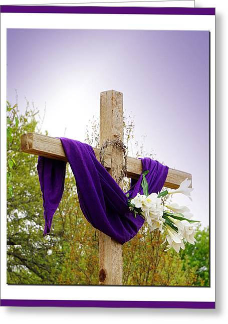 Easter Cross Greeting Card by Jeff Wilson