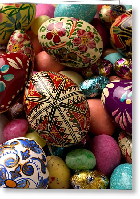 Treat Greeting Cards - Easter Eggs Greeting Card by Garry Gay