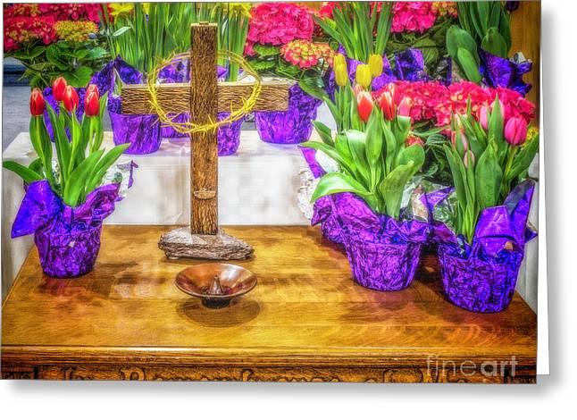 Easter Flowers Greeting Card by Nick Zelinsky