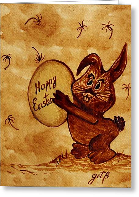 Easter Golden Egg For You Greeting Card by Georgeta  Blanaru