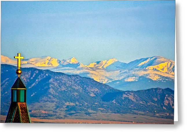 Easter In The Rockies Greeting Card