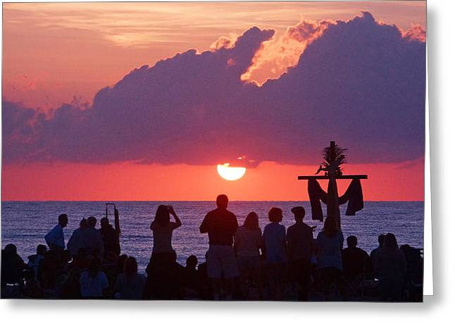 Easter Sunrise Beach Service Greeting Card