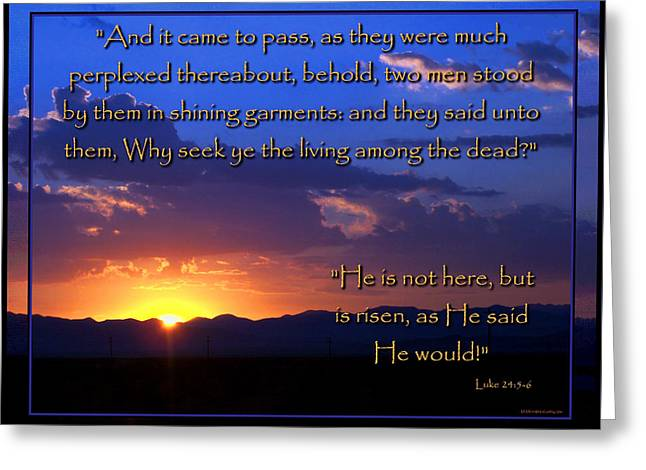 Easter Sunrise - He Is Risen Greeting Card