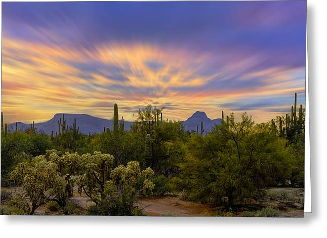 Easter Sunset H18 Greeting Card