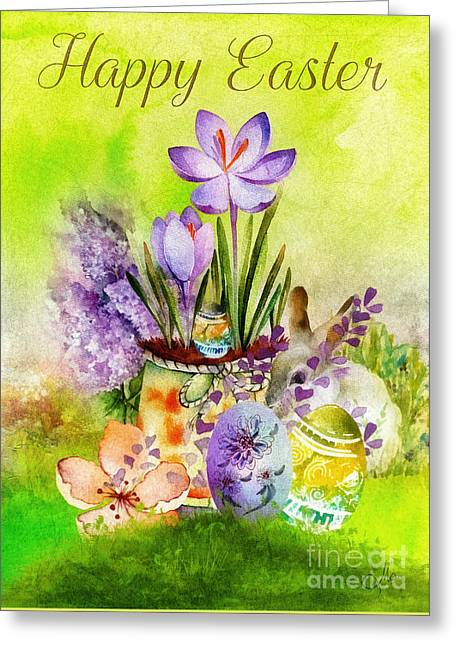 Easter Time Greeting Card by Mo T