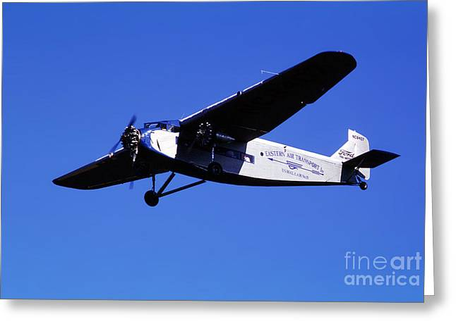 Eastern Airlines Eal, Ford Tri-motor 4-at-e, Nc8407 Greeting Card