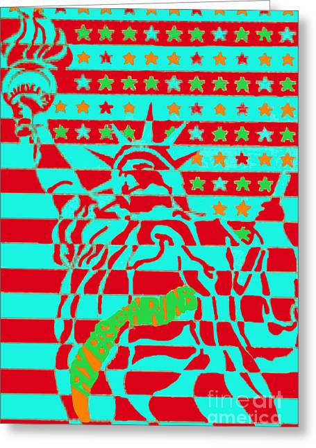 Eastern Airlines Lady Liberty Greeting Card by Jost Houk