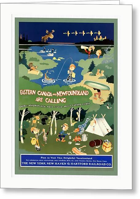 Eastern Canada And Newfoundland - Restored Greeting Card
