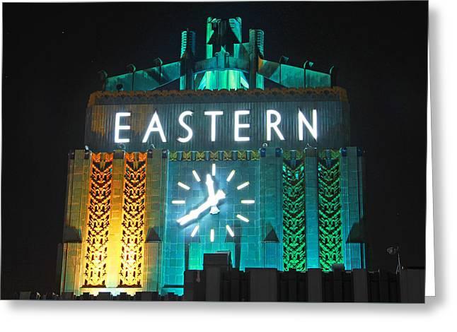 Eastern Clock Greeting Card