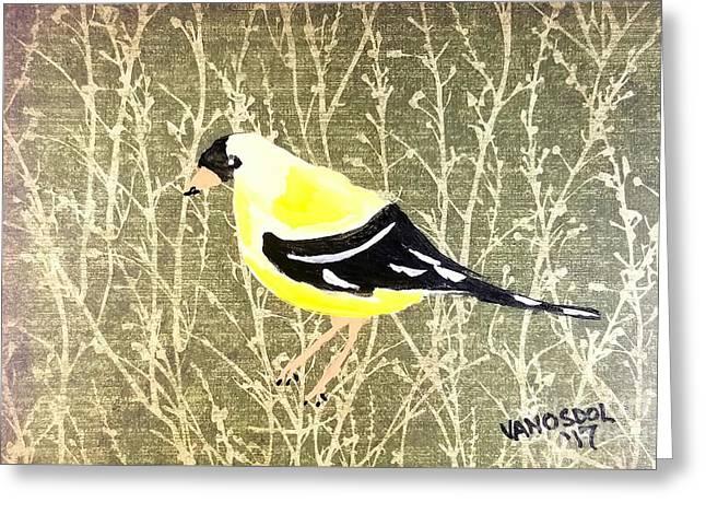 Eastern Goldfinch Greeting Card