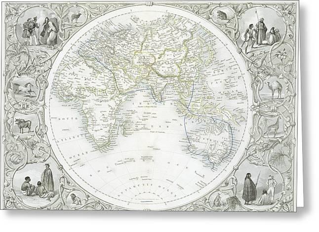 Eastern Hemisphere Greeting Card
