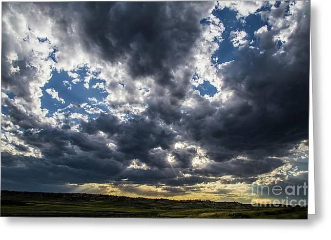 Eastern Montana Sky Greeting Card
