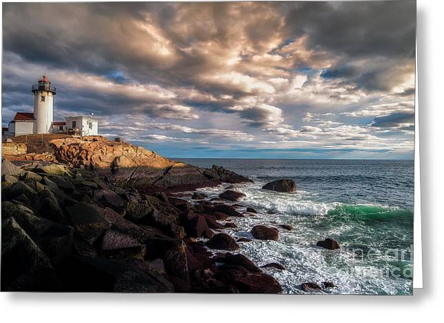 Eastern Point Light Greeting Card by Scott Thorp