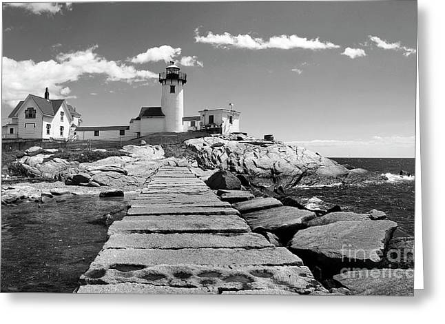 Eastern Point Lighthouse Ma Greeting Card by Skip Willits