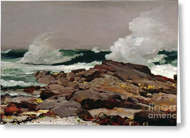 Sea Greeting Cards - Eastern Point Greeting Card by Winslow Homer