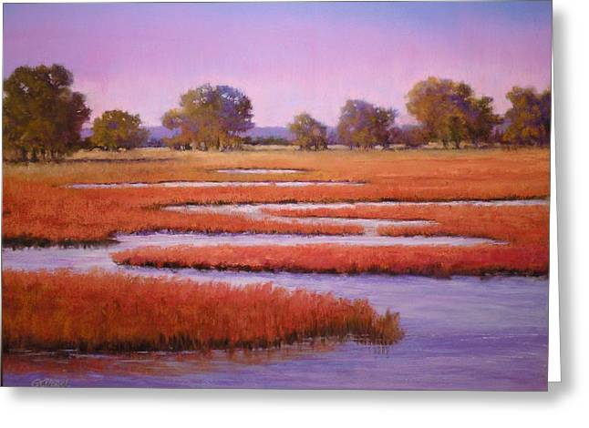 Eastern Shore Marsh Greeting Card by Paula Ann Ford