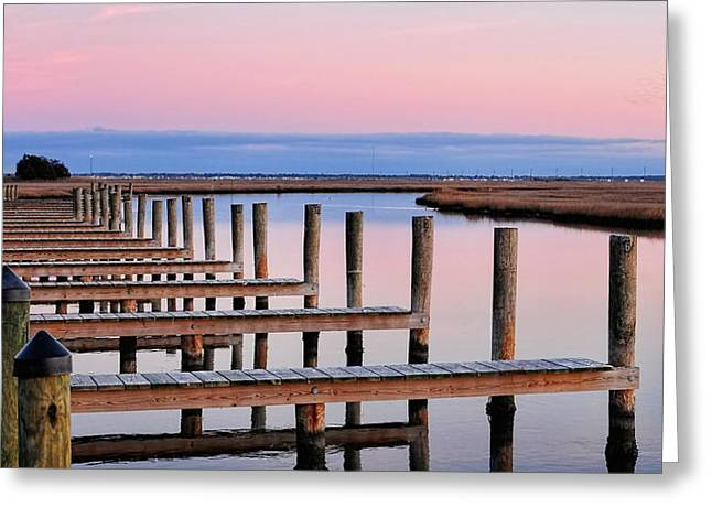 Eastern Shore On The Docks Greeting Card