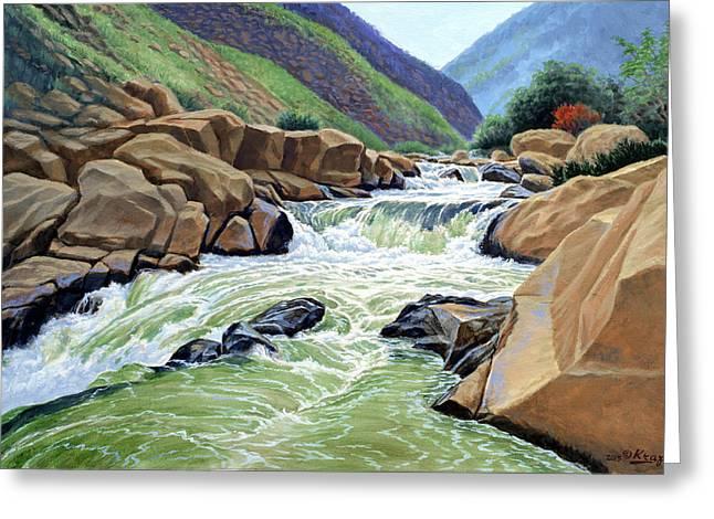 Eastern Sierra Stream Greeting Card by Paul Krapf