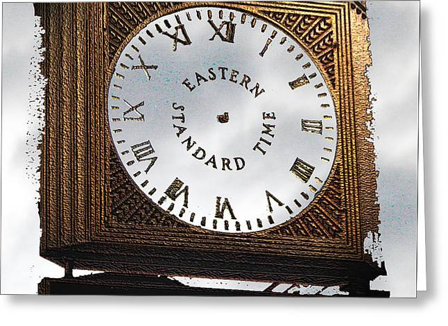 Greeting Card featuring the photograph Eastern Standard Time by Christopher Woods