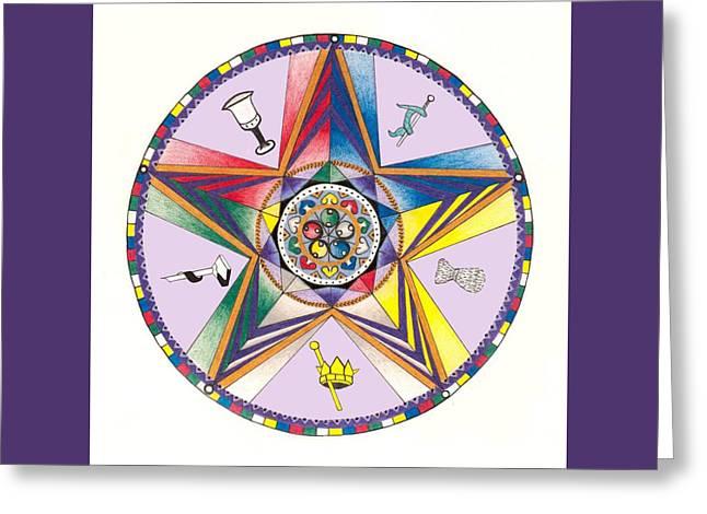 Eastern Star Greeting Card by Merrill Masson