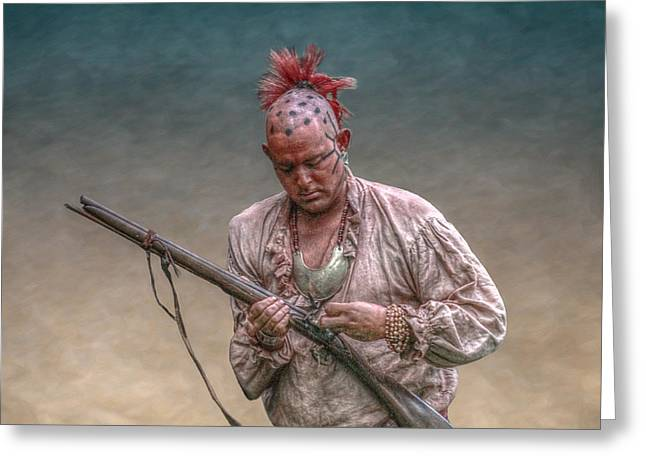 Eastern Woodland Warrior With Musket Greeting Card