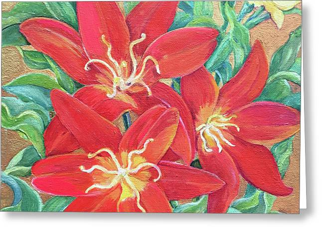 Easter's Promise, Tulips Greeting Card by Kimberly McSparran