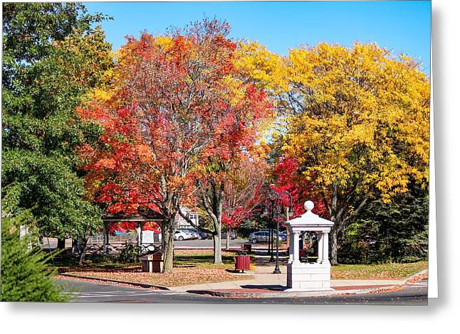 Easthampton Center In The Fall Greeting Card