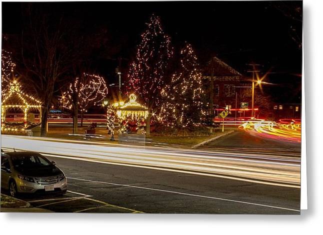 Easthampton Light Trails Greeting Card