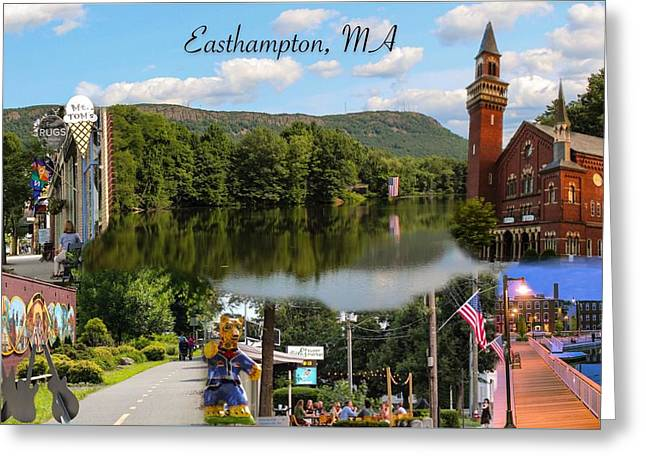 Easthampton Ma Collage Greeting Card