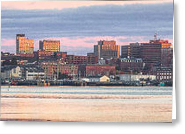 Eastland - Portland Panorama Greeting Card by Benjamin Williamson