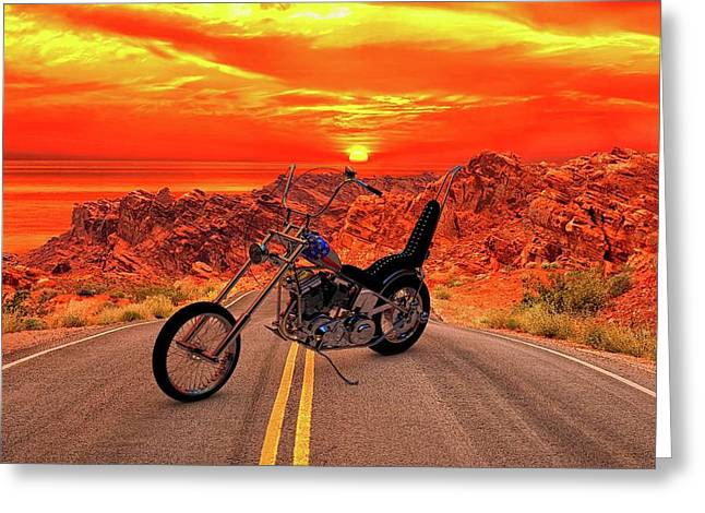 Greeting Card featuring the photograph Easy Rider Chopper by Louis Ferreira